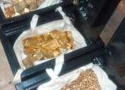 Oro en polvo y bares para la venta