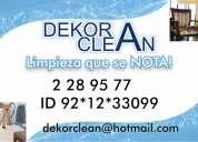 Dekor clean limpieza que se nota