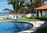 Excelente casa con playa, alberca, terraza, grill, jardin