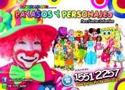 payasos y personajes para fiestas infantiles – df y edomx