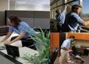 Limpieza de oficinas en turnos completos o medios turnos