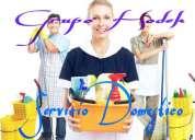 Sirvienta Agencia Domestica Niñera Servicio Domestico Recamarera Cuidadora Nana Cocinera Enfermera