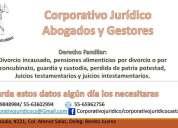 abogados especialistas en derecho familiar y civil