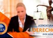 Universidad cies licenciatura en derecho