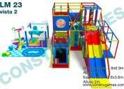 juegos infantiles con resbaladeros extremos