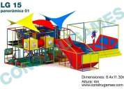 Juegos infantiles ideales para plazas comerciales, salon de fiestas