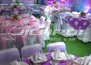 Renta de carpas elegantes, decoraciones y servicios para eventos