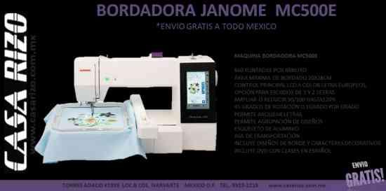 Maquina Bordadora Janome mod. MC500E