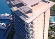 Departamento de 3 recámaras en venta en puerto cancun frente a la marina