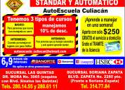 """Cursos de manejo escuela culiacan promociones"""""""