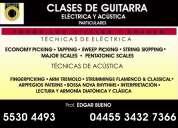 Clases de guitarra electrica y acustica profesionales y particulares