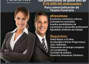 Asesores, ejecutivos de ventas, promotores $10,000 mensuales