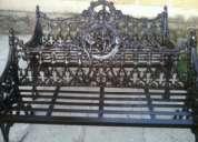 Bancas de jardín en aluminio fundido
