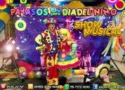 Show musical de payasos para dia del niño - df/edmx
