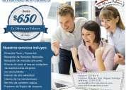 Contrate ya su oficina virtual en polanco