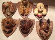 Adorno de ceramica de perros