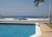 Excelente casa a pie de playa en manzanillo