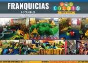 Franquicia infantil disponible colors little park en querétaro