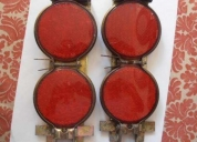 Vendo reflejantes antiguos de 50 60 s original vintage en caja