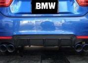 Excelente bmw 435i m sport difusor fibra carbono