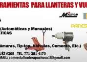 Equipo y herramientas para llanteras y vulcanizadoras