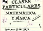Clases particulares a domicilio de matemáticas, física y química.