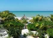 Casa caribeÑa con frente de mar en isla holbox mexico