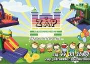 Zap atracciones renta de mobiliario e inflables