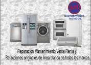 Refrigeracion,reparacion,mantenimiento, diagnostico de lavadoras