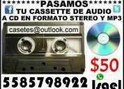 Dame tus cassettes cintas de audio te las paso a mp3