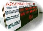 pantallas electronicas para produccion