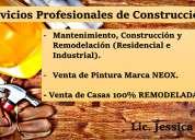 Servicios profesionales de construcción