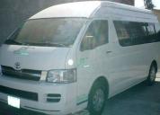 Aprovecha ya! toyota hiace 15 pasajeros -2006