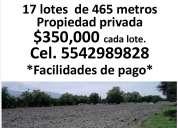 Se vende terrerno 465 metros cuadrados en xolalpa, tepetlaoxtoc.
