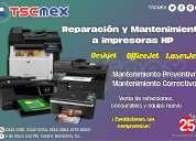 Reparamos tu impresora multifuncional hp de inyección o laser
