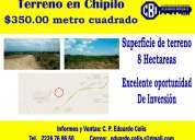 Enorme terreno de 8 hectáreas en chipilo