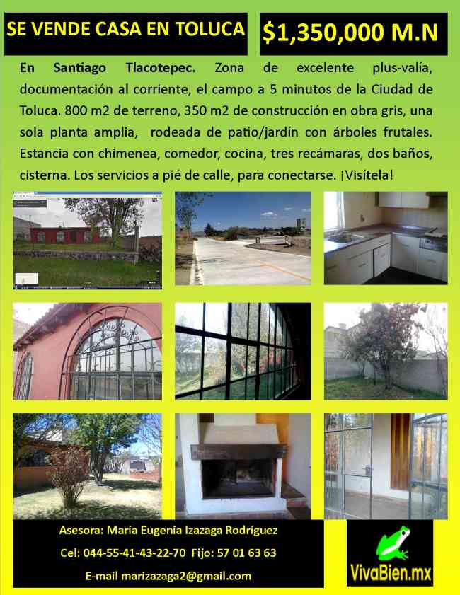 Se vende casa en Toluca