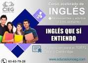 Habla ingles en cursos intensivos