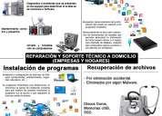 Reparacion y soporte tecnico de computadoras a domicilio (empresas y hogares)