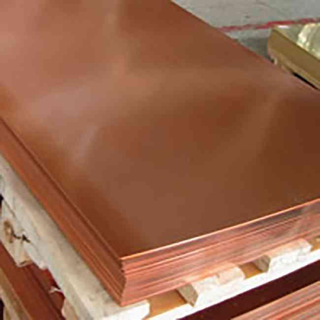 Lamina en hoja o placa de cobre