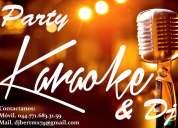 Party karaoke & dj, audio e iluminaciÓn, edecanes, animadores, grupos y mucho mÁs....