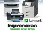 Reparación de impresoras y multifuncionales lexmark