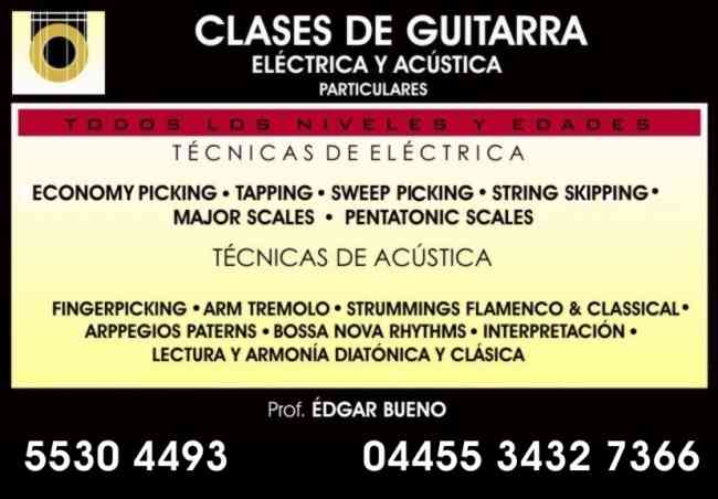 CLASES DE GUITARRA ELECTRICA Y ACUSTICA PARA JOVENES Y ADULTOS PERSONALIZADAS