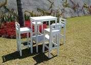 Renta de mobiliario vintage mesas y sillas