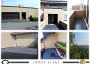 Lomas Altas casa en condominio con 398m2 construcción, oportunidad para vivir en las Lomas