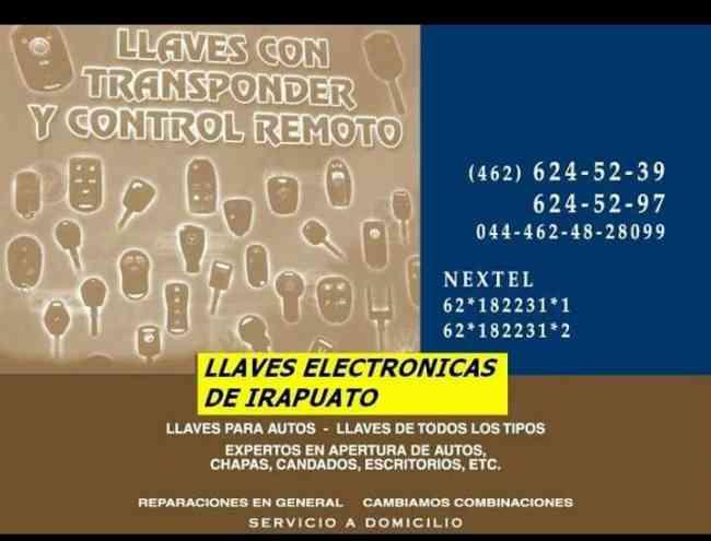 Reparación de llaves y controles remoto con chip transponder