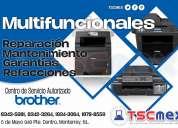Reparación a multifuncionales brother