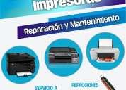 Reparacion y mantenimiento de impresoras hp en monterrey