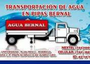 Transportacion de agua bernal