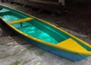 Oportunidad! cayuco o canoa de fibra de vidrio seminuevo